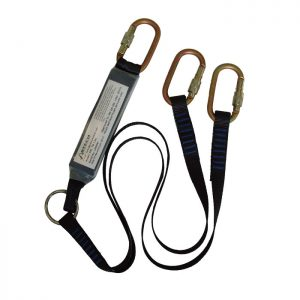 1.5m TWIN Fall Arrest Lanyard WITH 3 x KH311 ABLTW1.5