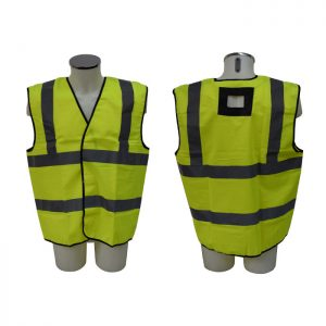 Hi Vis Jacket with opening for harness attachment points. ABJ-Y